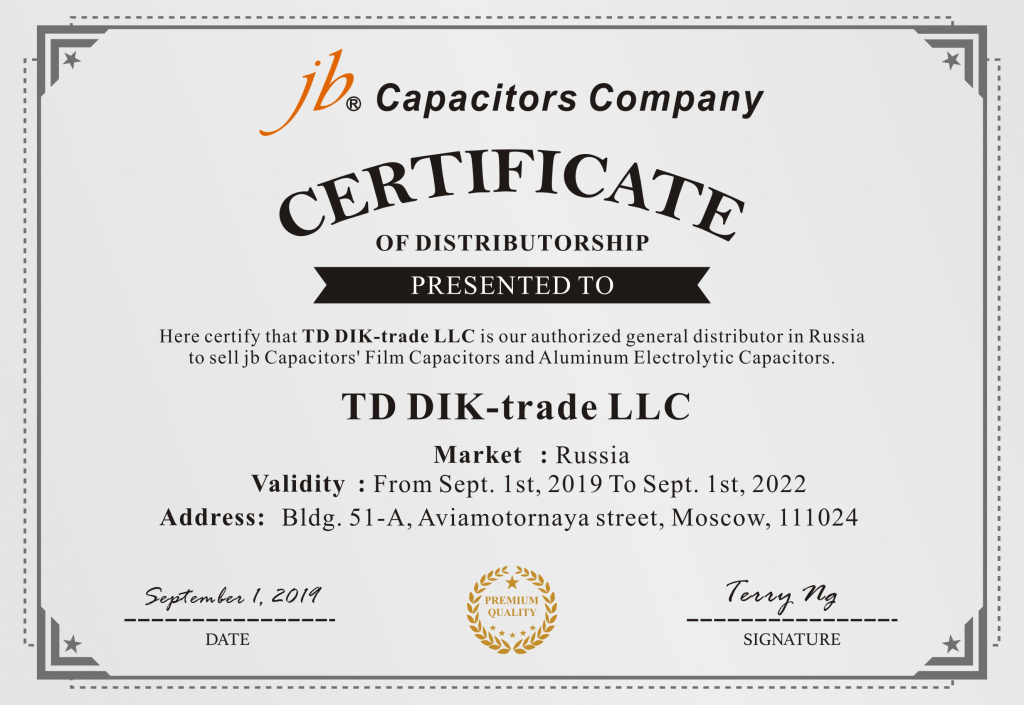 JB Capacitors Company